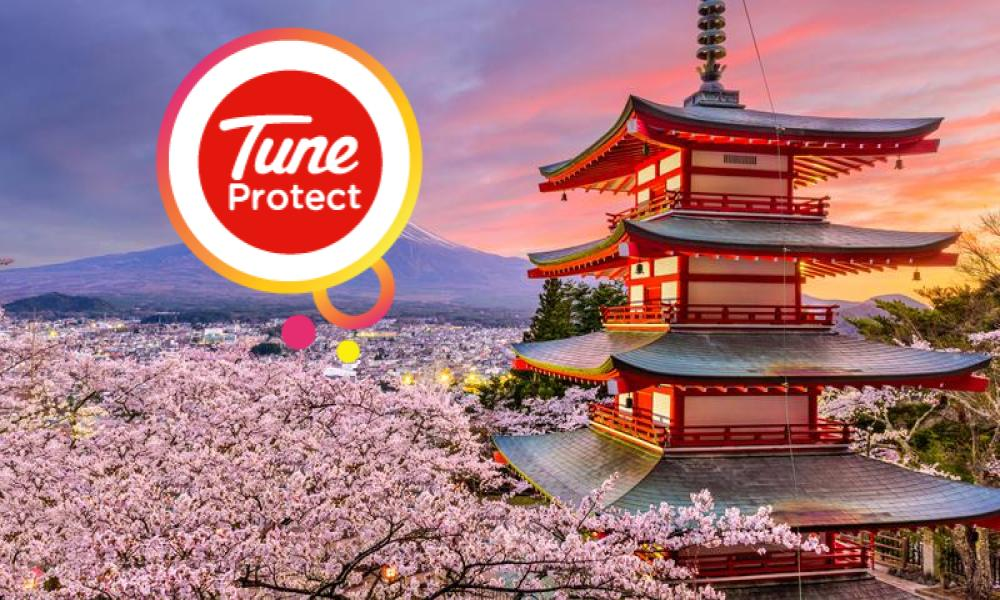 TUNE PROTECT REWARDS YOU FOR NOT SEEING SAKURA IN JAPAN news cover image