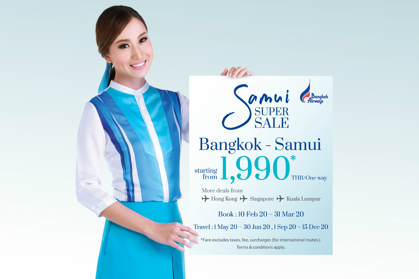 "BANGKOK AIRWAYS LAUNCHES ""SAMUI SUPER SALE"" PROMOTION news cover image"