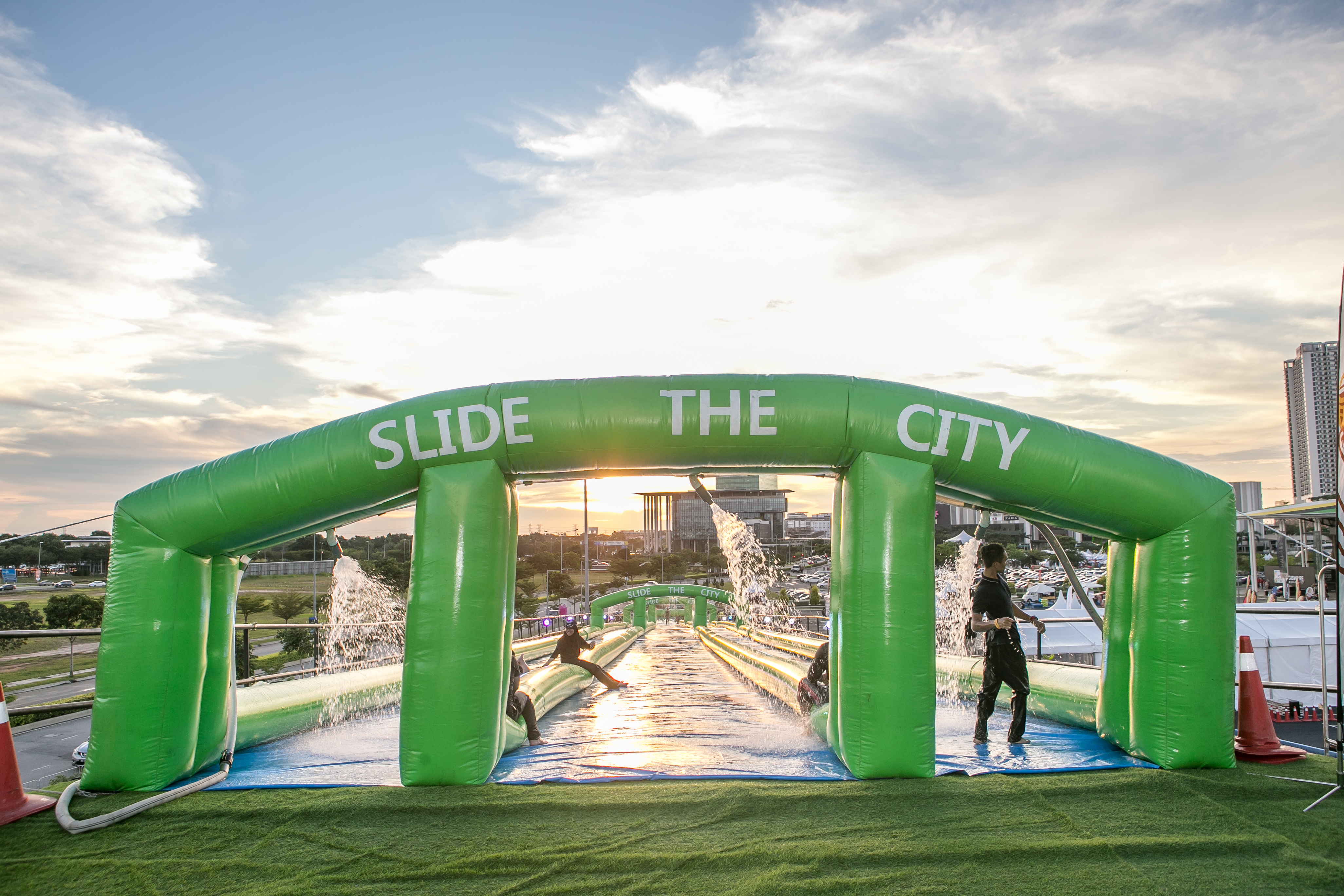 Enjoy night slides with Slide the City news cover image